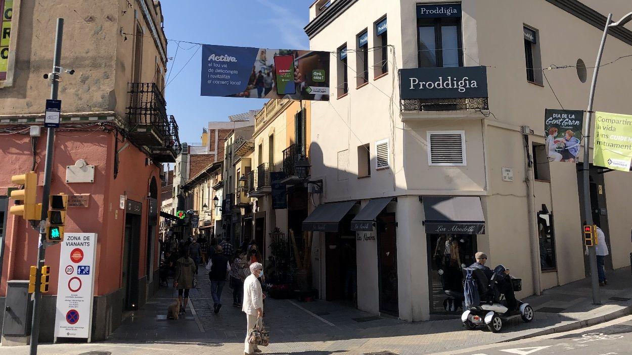 El carrer Santa Maria / Foto: Cugat Mèdia