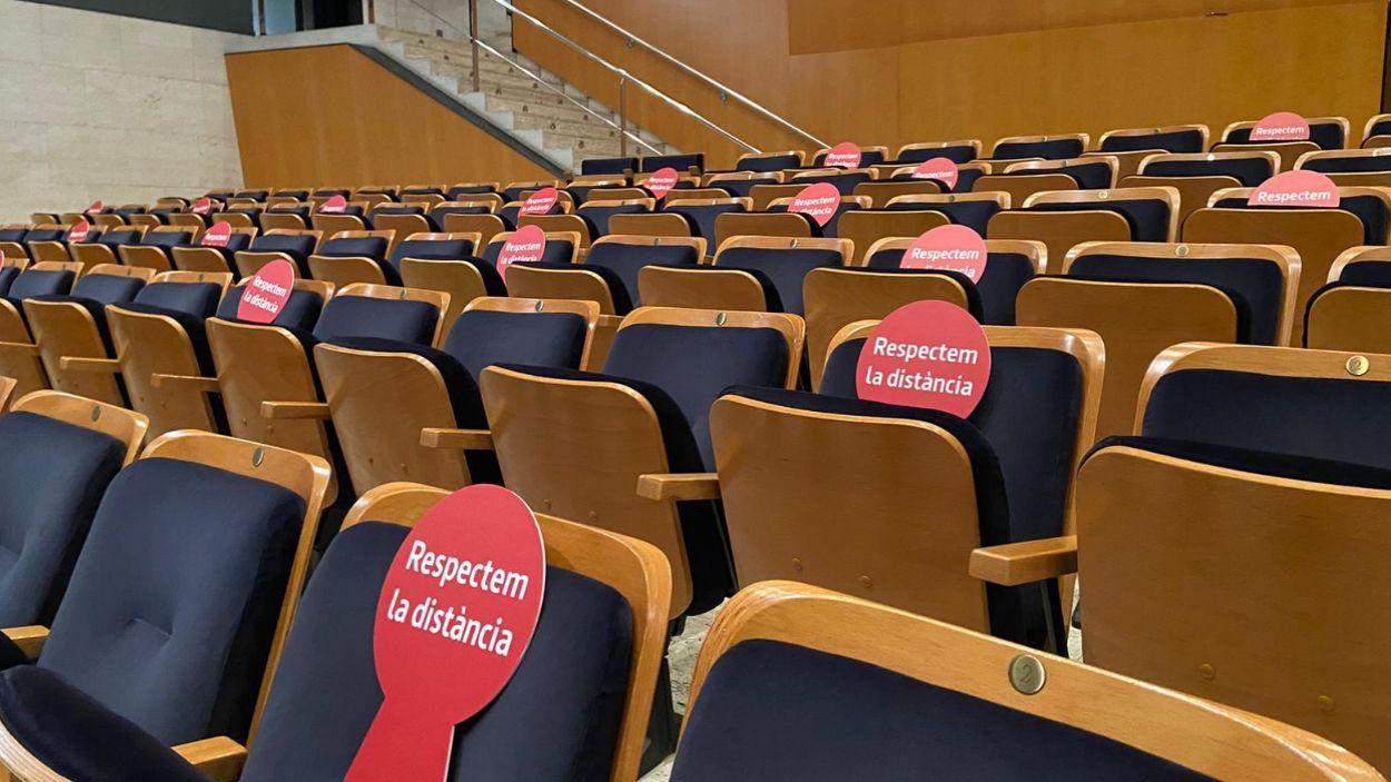 Imatge de les butaques del Teatre-Auditori / Foto: Cedida