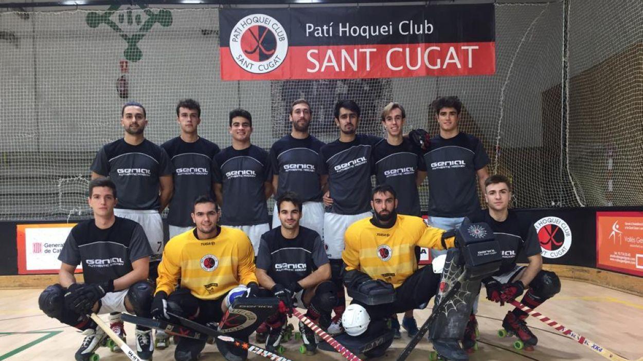 Una imatge d'arxiu dels jugadors del Patí Hoquei Club Sant Cugat / Foto: PHCSC