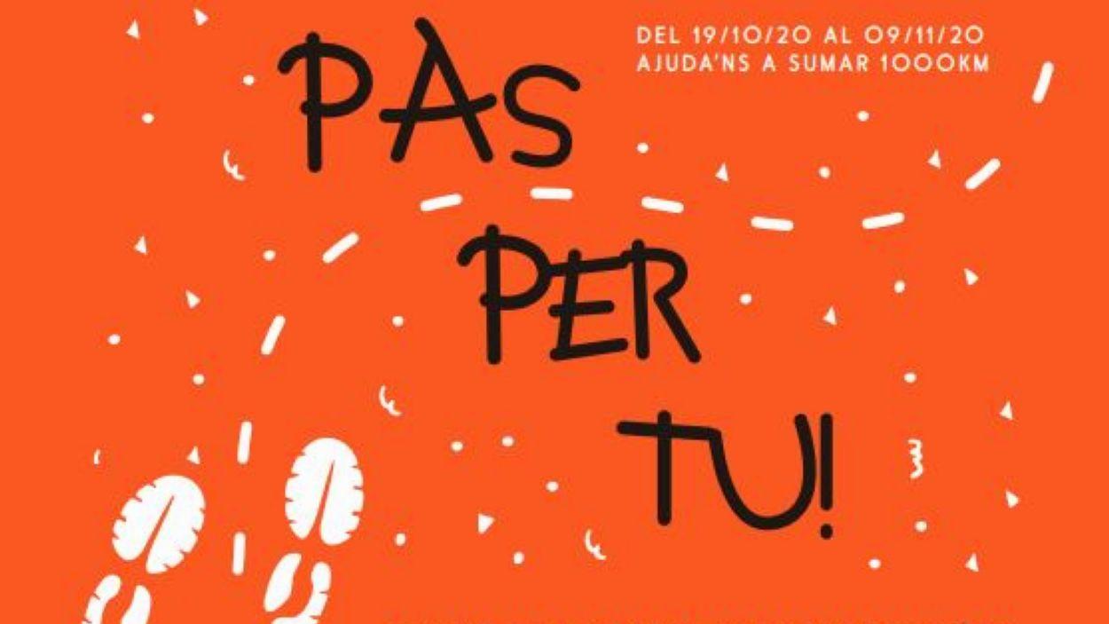 Detall del cartell de la 3a marxa solidària / Foto: Fundació Privada Jeroni de Moragas