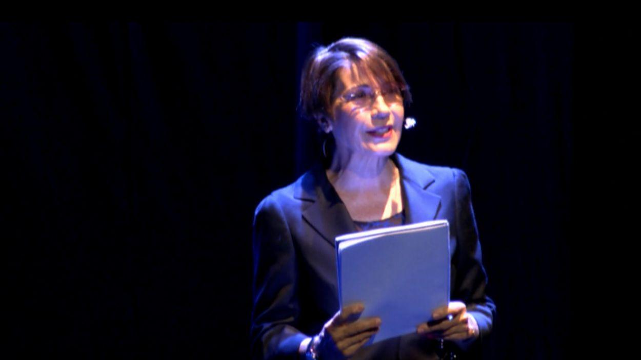 Emma Vilarasau, durant l'espectacle / Foto: Cugat Mèdia