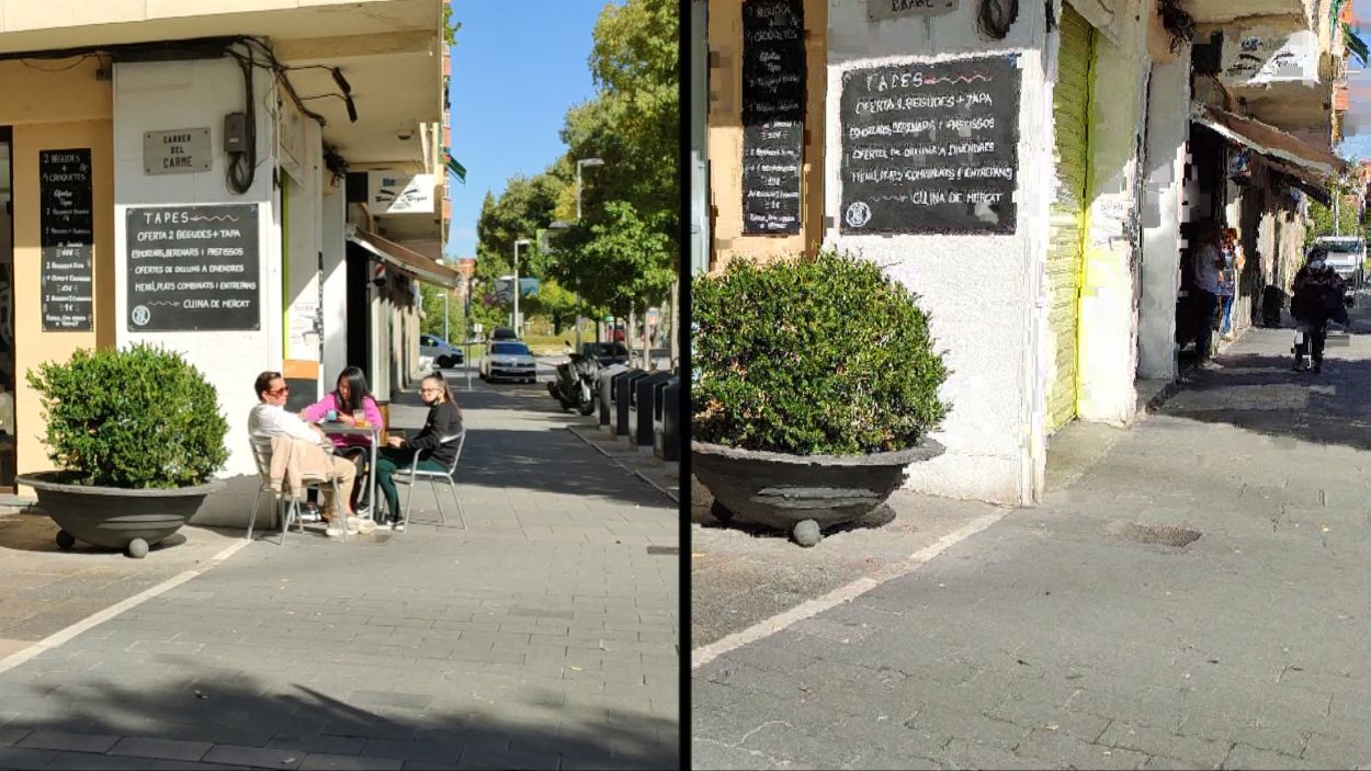 Els bars i restaurants no poden obrir a causa de les restriccions / Foto: Cugat Mèdia