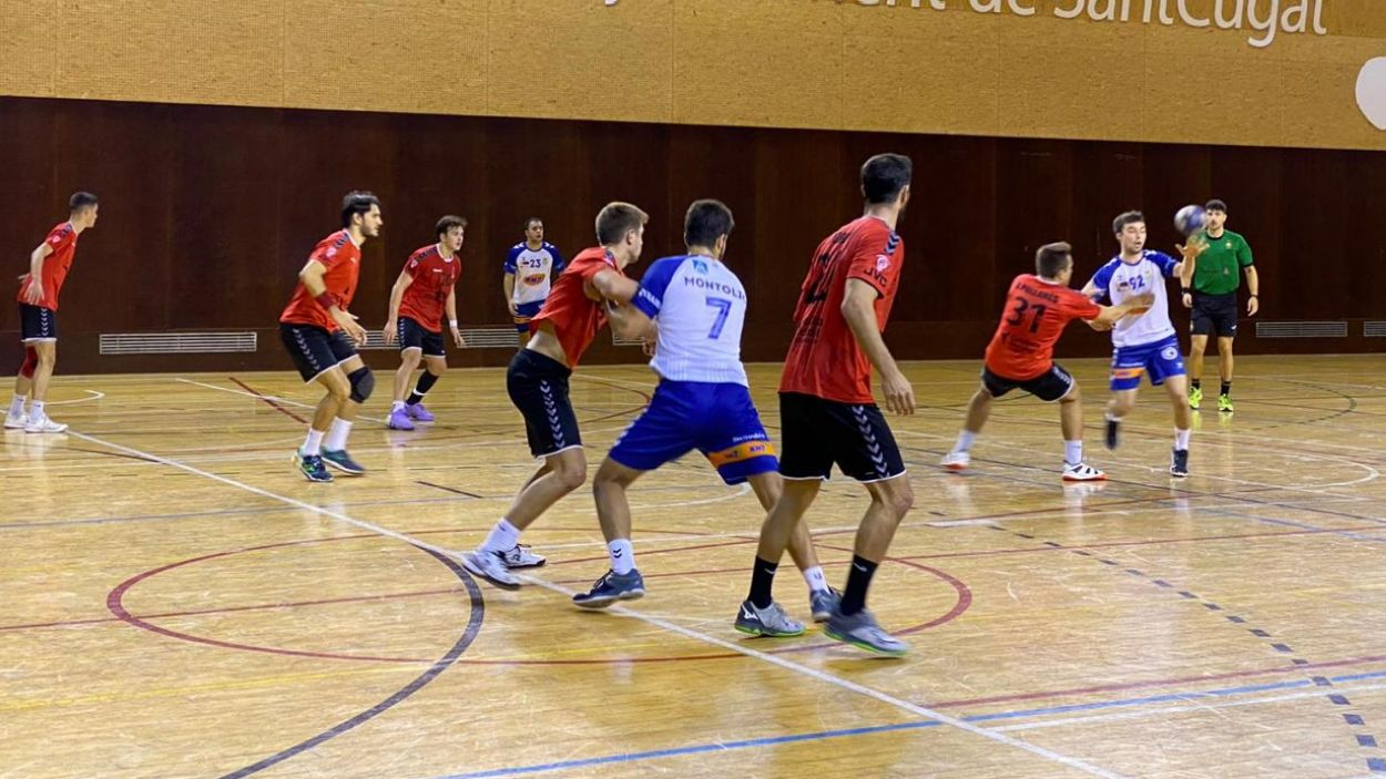 Imatge del partit entre l'Handbol Sant Cugat i el Granollers / Font: Cugat Mèdia