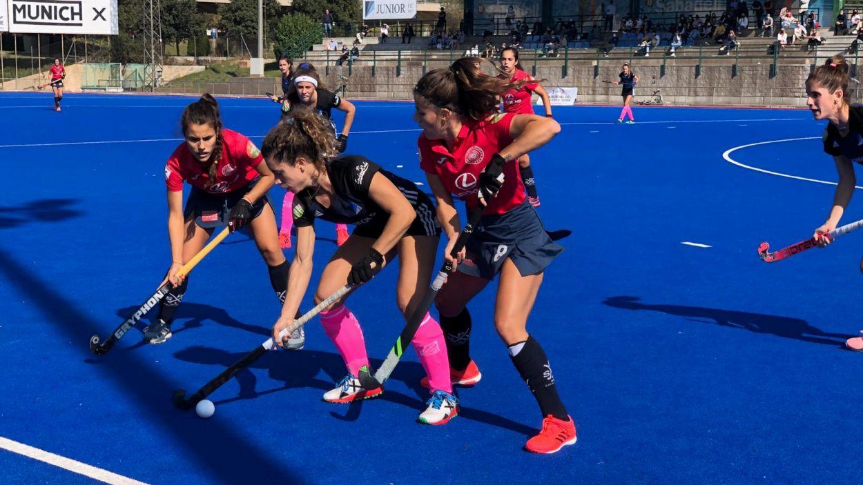 Imatge del partit entre el Junior i el Valdeluz de la lliga regular / Foto: Cugat Mèdia