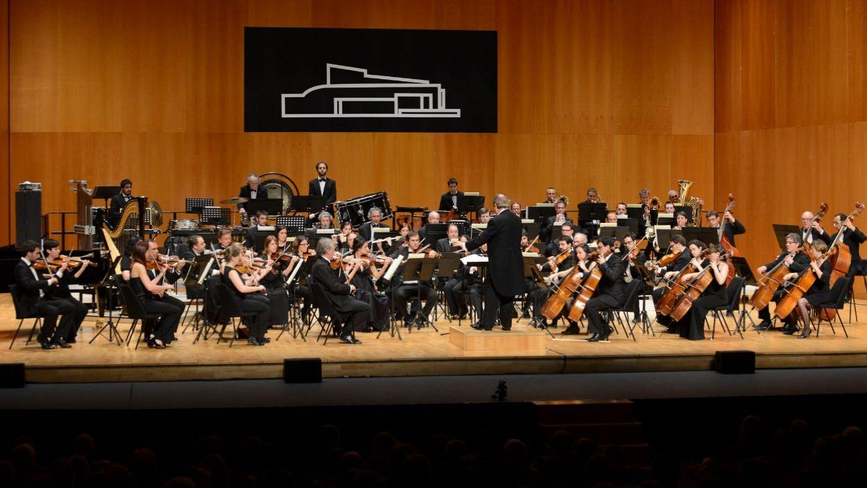 Imatge d'arxiu de l'Orquestra Simfònica de Sant Cugat al Teatre-Auditori / Foto: Localpres