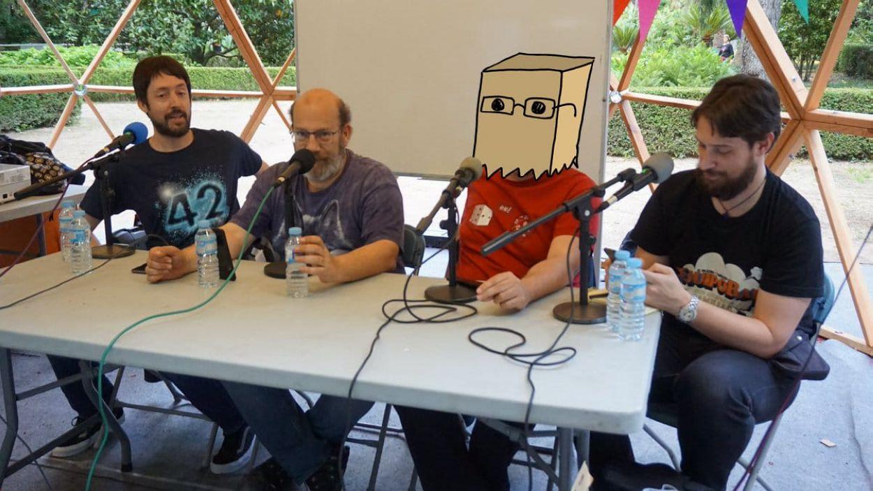 Els integrants del podcast / Foto: Cugat Mèdia