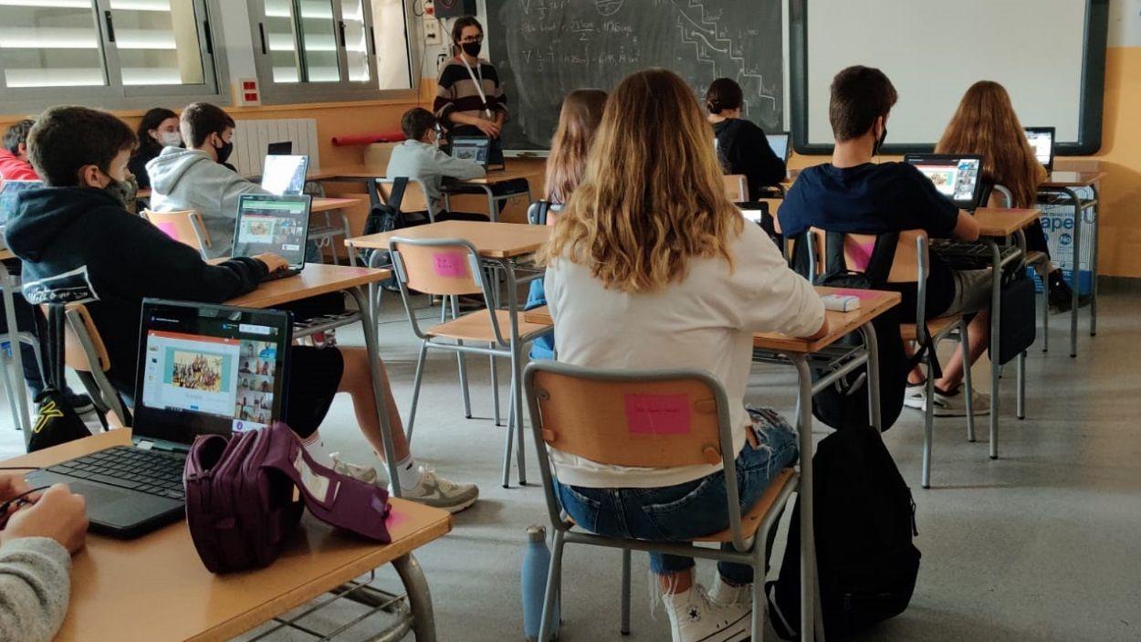El Pla i Farreras és pioner en la incorporació de dispositius a classe / Foto: Institut Pla i Farreras