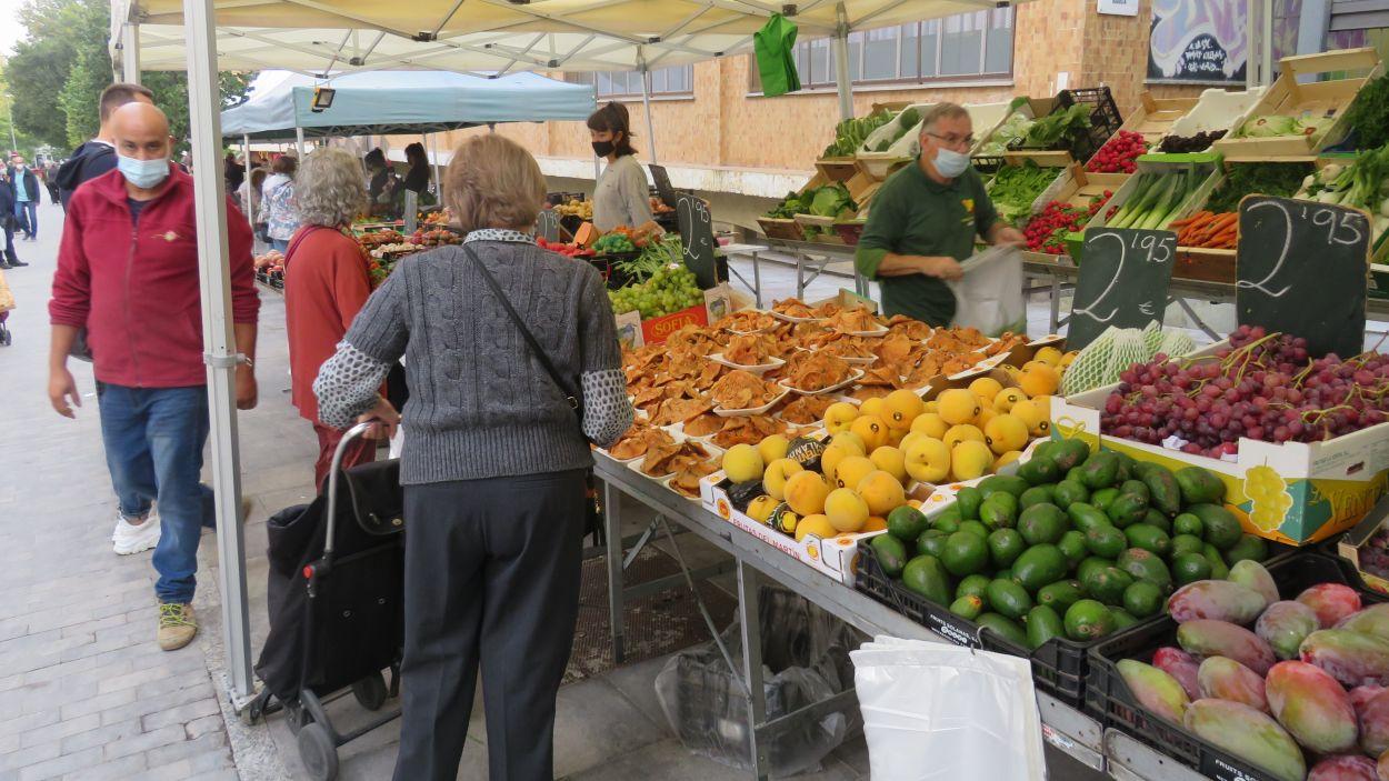 Les parades de fruita i verdura, les més concorregudes / Foto: Cugat Mèdia