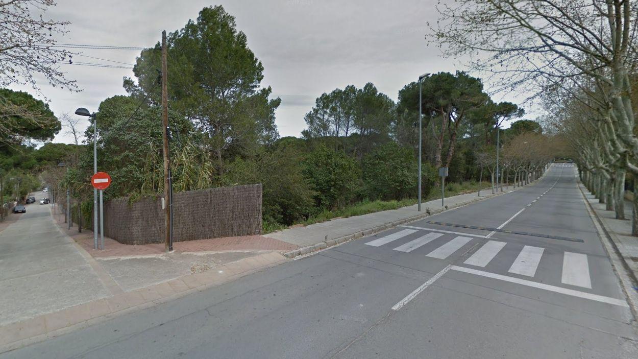 Els terrenys on s'ubicaria l'escola / Foto: Google Maps
