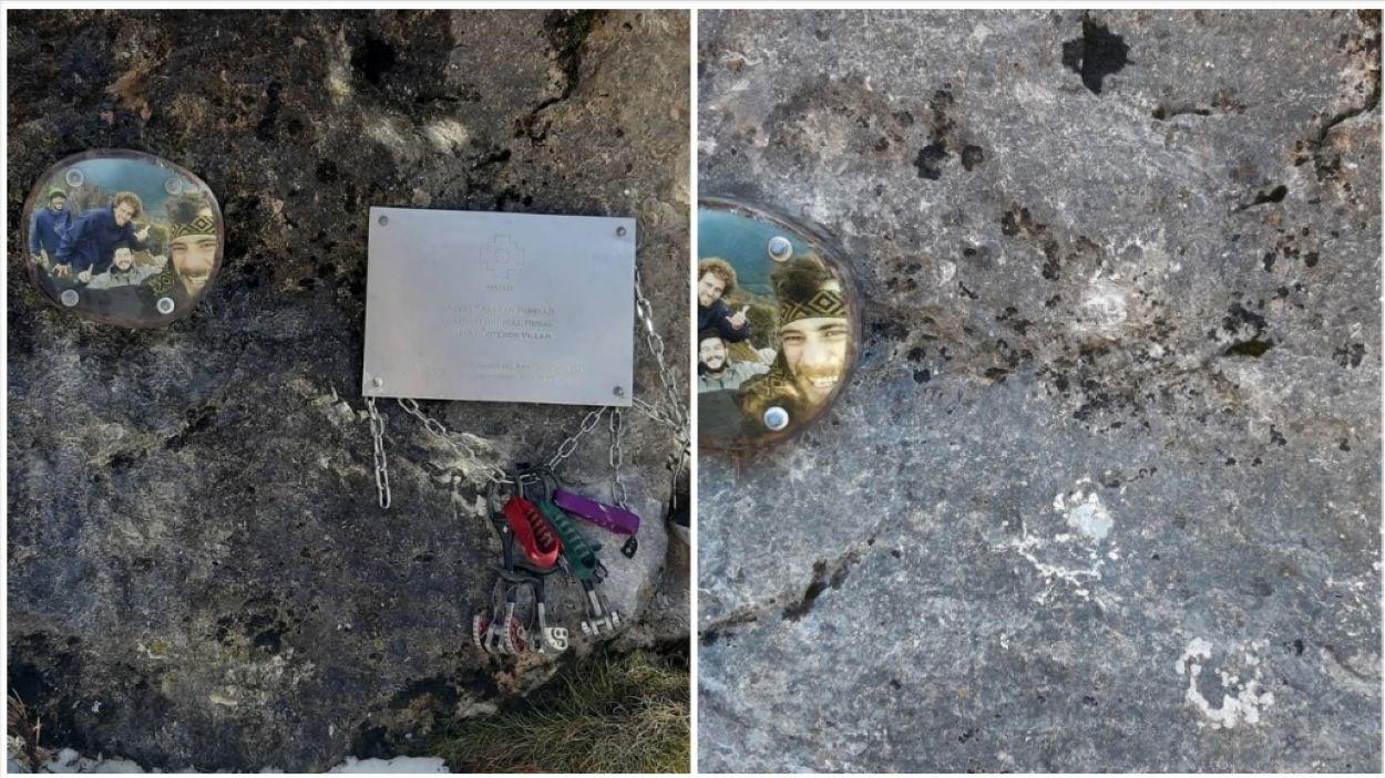 Desapareix la placa en record als alpinistes morts al Perú l'any passat