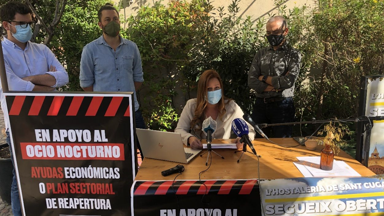 Imatge de la roda de premsa / Foto: Cugat Mèdia