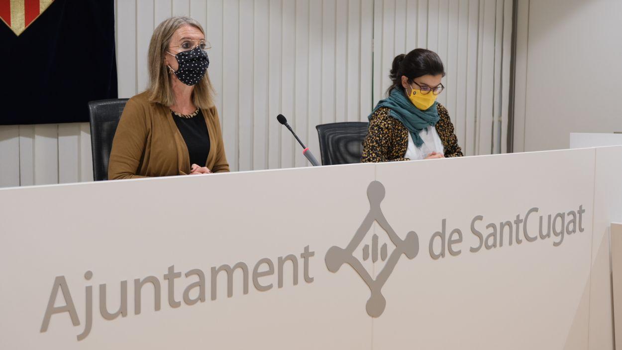 L'alcaldessa, Mireia Ingla, i la tinenta d'alcaldia de Cultura, Esther Madrona / Foto: Ajuntament de Sant Cugat