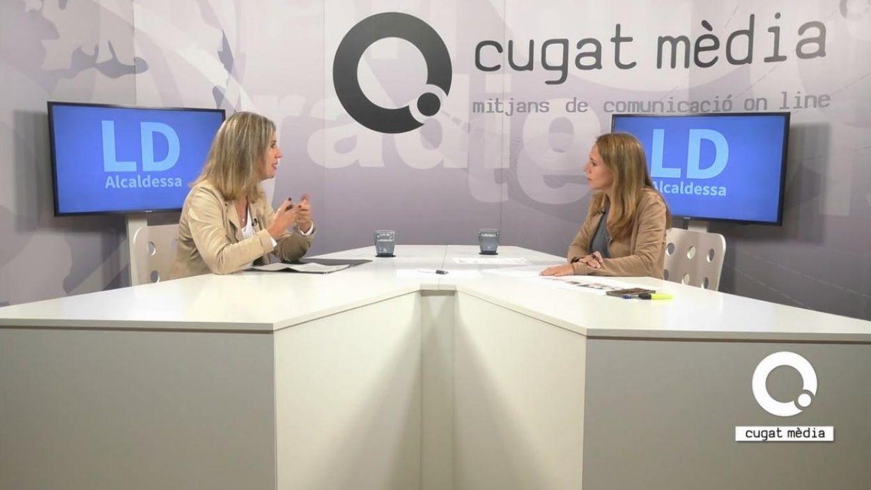 Imatge de l'entrevista al plató de Cugat Mèdia / Foto: Cugat Mèdia