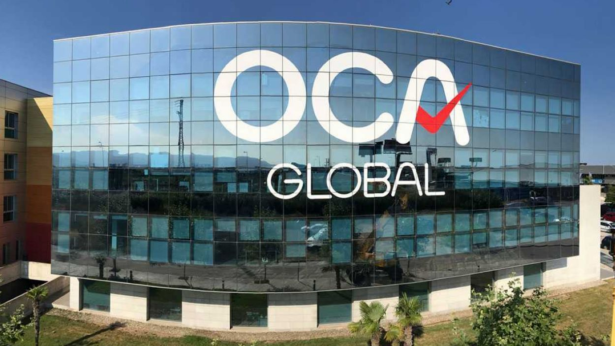 Façana de la l'edifici d'OCA Global, a El Prat de Llobregat / Foto: Cedida
