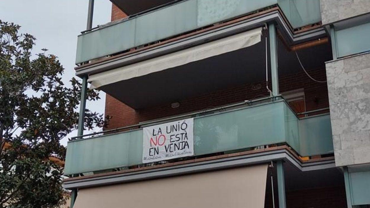 Una acció reivindicativa pel futur de La Unió / Foto: Bastoners de Sant Cugat