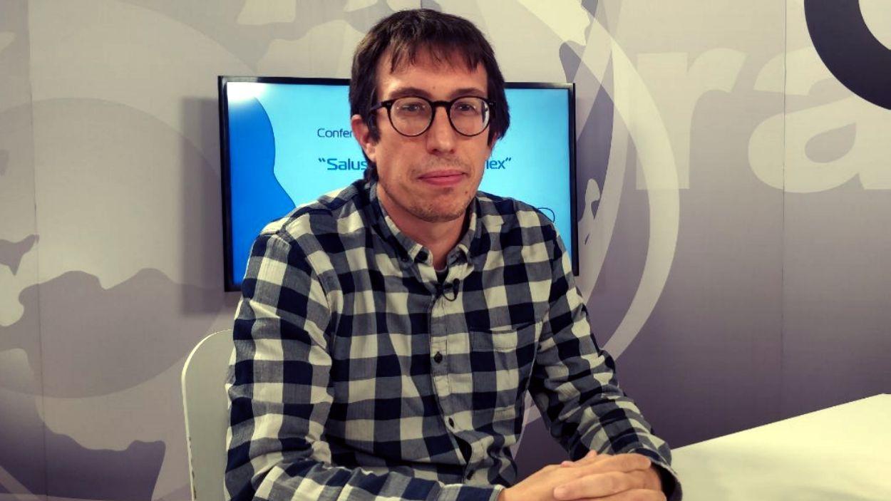 Oriol Farrés al plató de Cugat Media / Foto: Cugat Mèdia