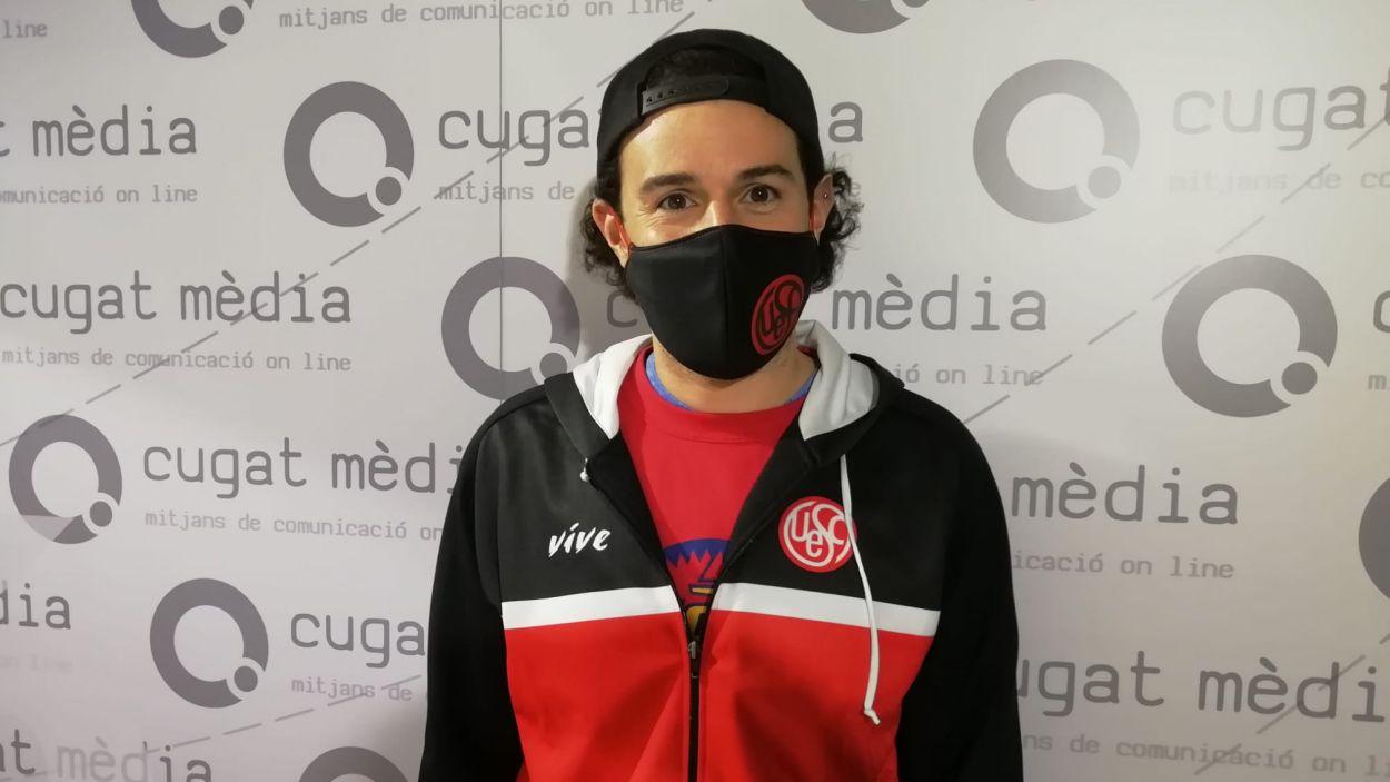 Patrick Reyes al programa 'Esport en Marxa' / Font: Cugat Mèdia