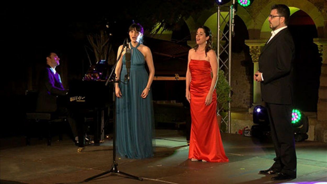 Imatge del concert de Gala Lírica del juliol al Claustre / Foto: Cugat Mèdia