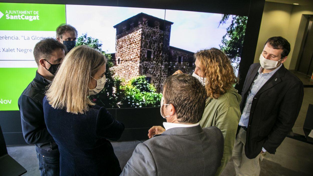 Imatge de la roda de premsa / Foto: Premsa Sant Cugat (Lali Puig)
