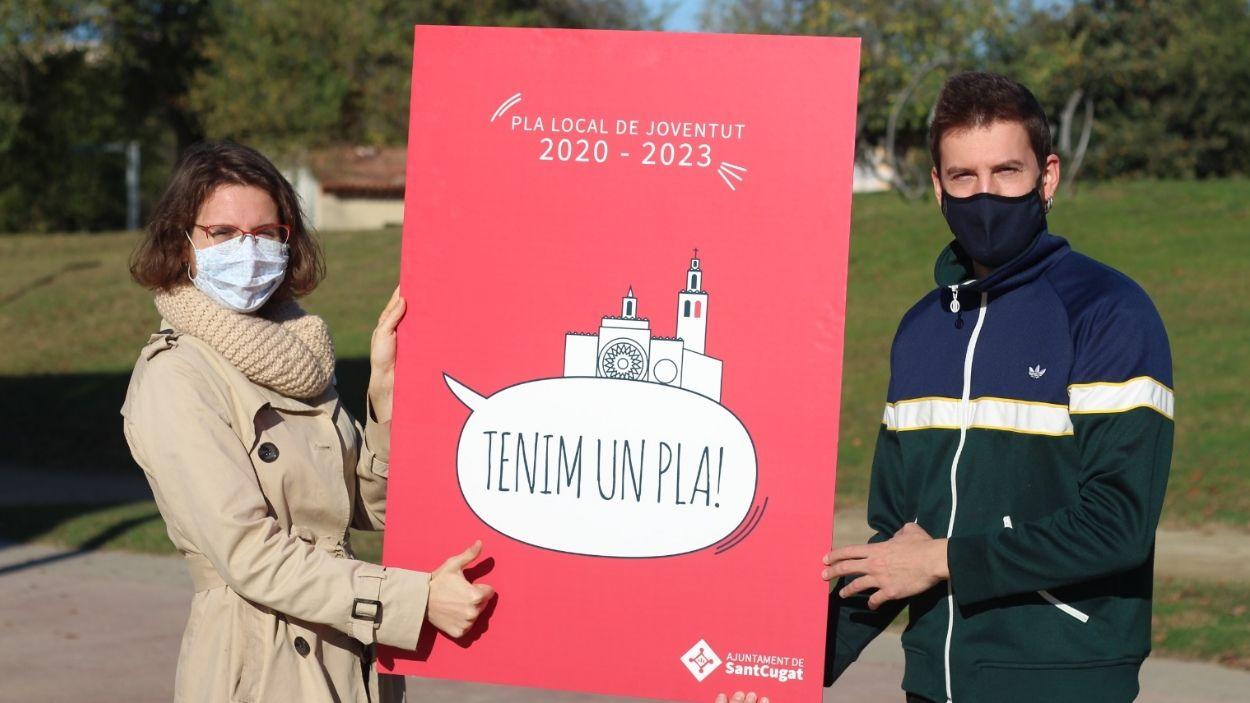 Els regidors de Joventut, Alba Gordó i Marco Simarro / Foto: Premsa Ajuntament