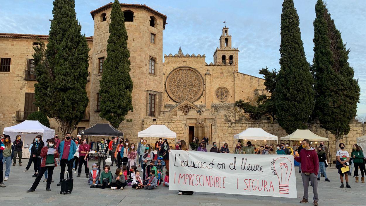 Manifestació contra les restriccions a les activitats de lleure / Foto: Cugat Mèdia