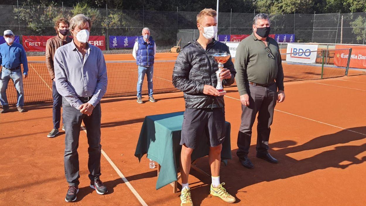 Holger Rune guanyador del torneig individual / Font: Centre Esportiu Valldoreix