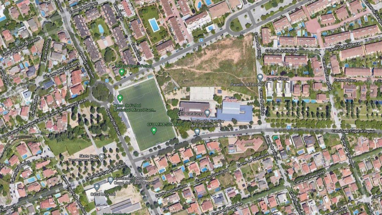 Imatge satèl·lit de la zona on ha d'anar el complex de Mira-sol / Foto: Google Maps