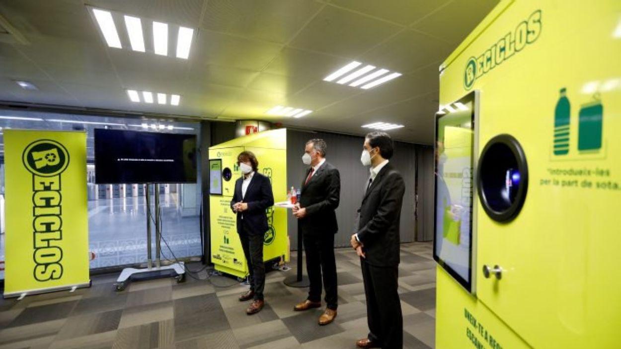 Moment de la presentació dels contenidors / Foto: FGC