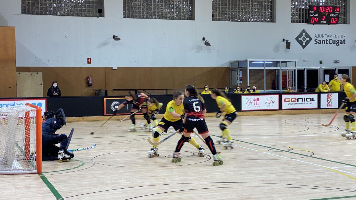Tot i el hat trick d'Andrea Massons l'equip no ha pogut puntuar / Font: Cugat Mèdia