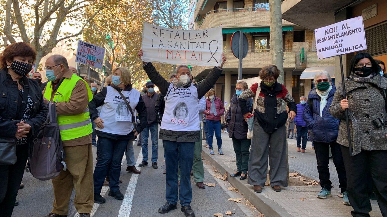 Manifestació a Sant Cugat en defensa de la sanitat pública / Foto: Cugat Mèdia