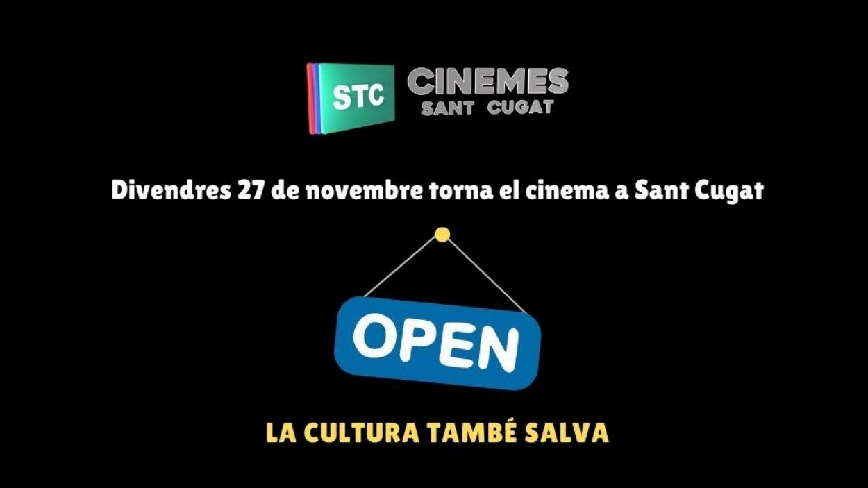 Els Cinemes Sant Cugat reobren aquest divendres / Foto: Ajuntament