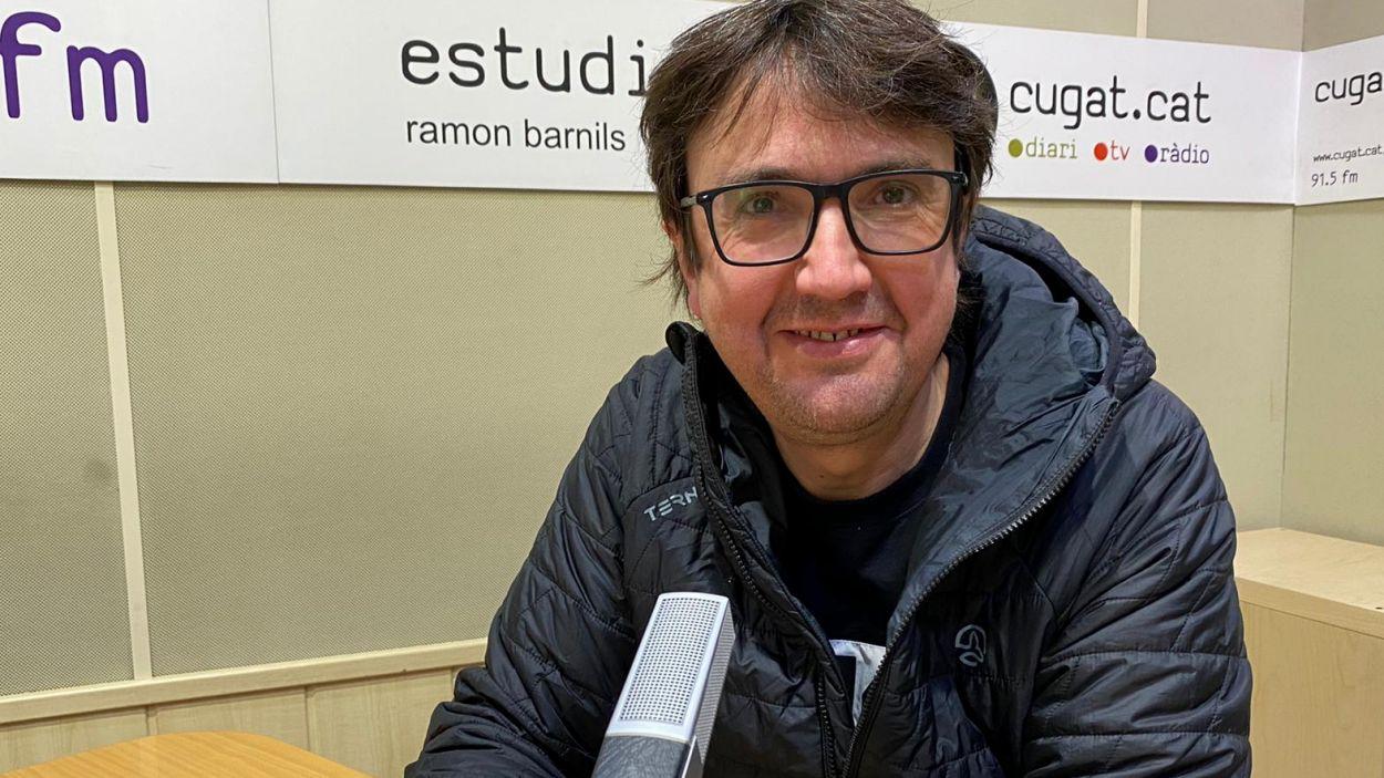 Raúl Martínez-Corcuera als estudis de Ràdio Sant Cugat