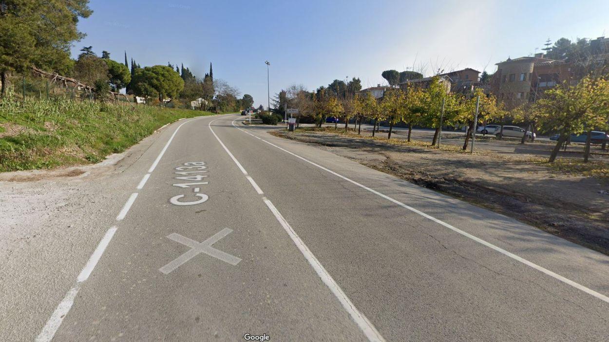 Imatge de la carretera al seu pas per Can Barata / Foto: Google Maps