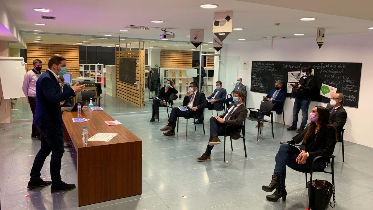 La visita ha tingut lloc al Centre d'Emprenedoria, Innovació i Coneixement / Foto: Cugat Mèdia