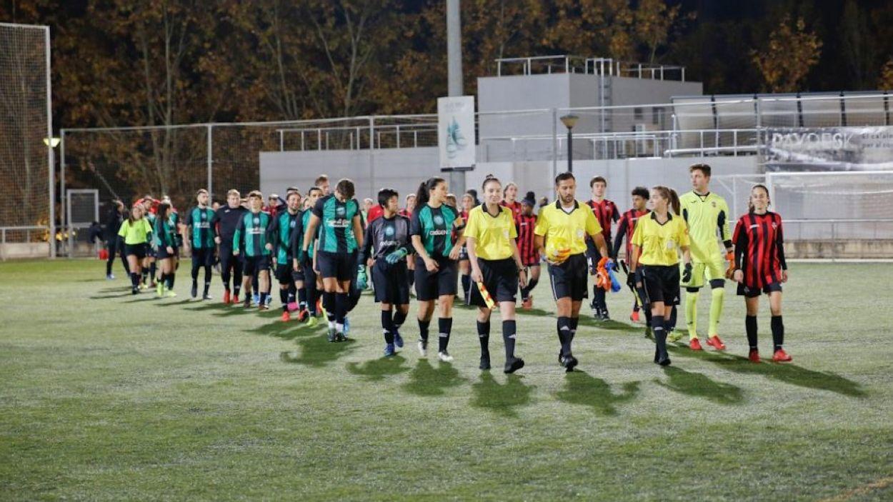 Imatge de la 2a edició del partit per la igualtat / Font: Sant Cugat FC