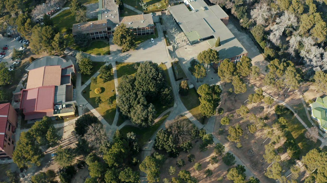 Vista àeria de les instal·lacions de l'escola Viaró / Foto: cedida
