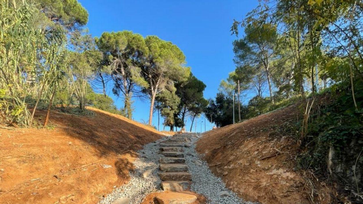Nou accés de vianants al Passeig Oreneta / Foto: EMD-Valldoreix
