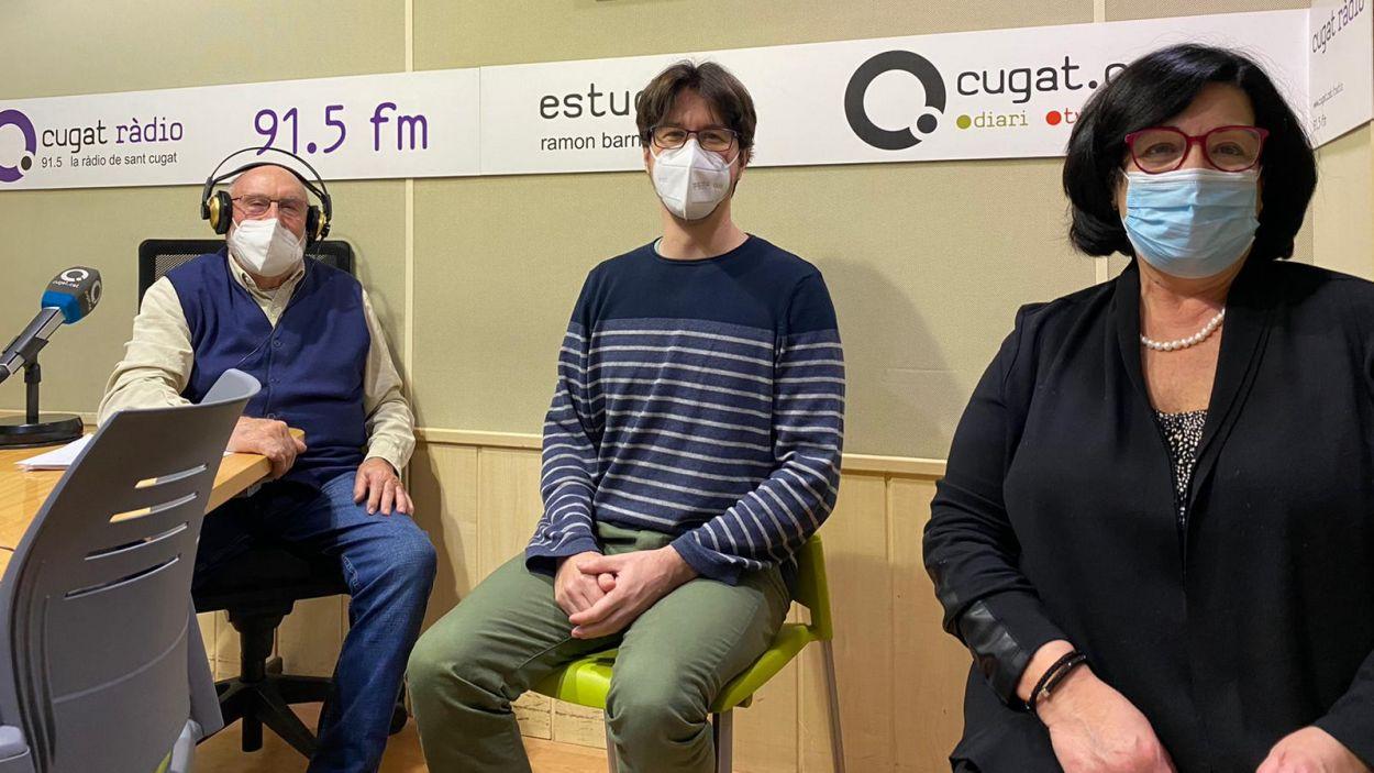 Eduard Jener, Oriol Castanyer i Flora Puntos / Foto: Cugat Mèdia