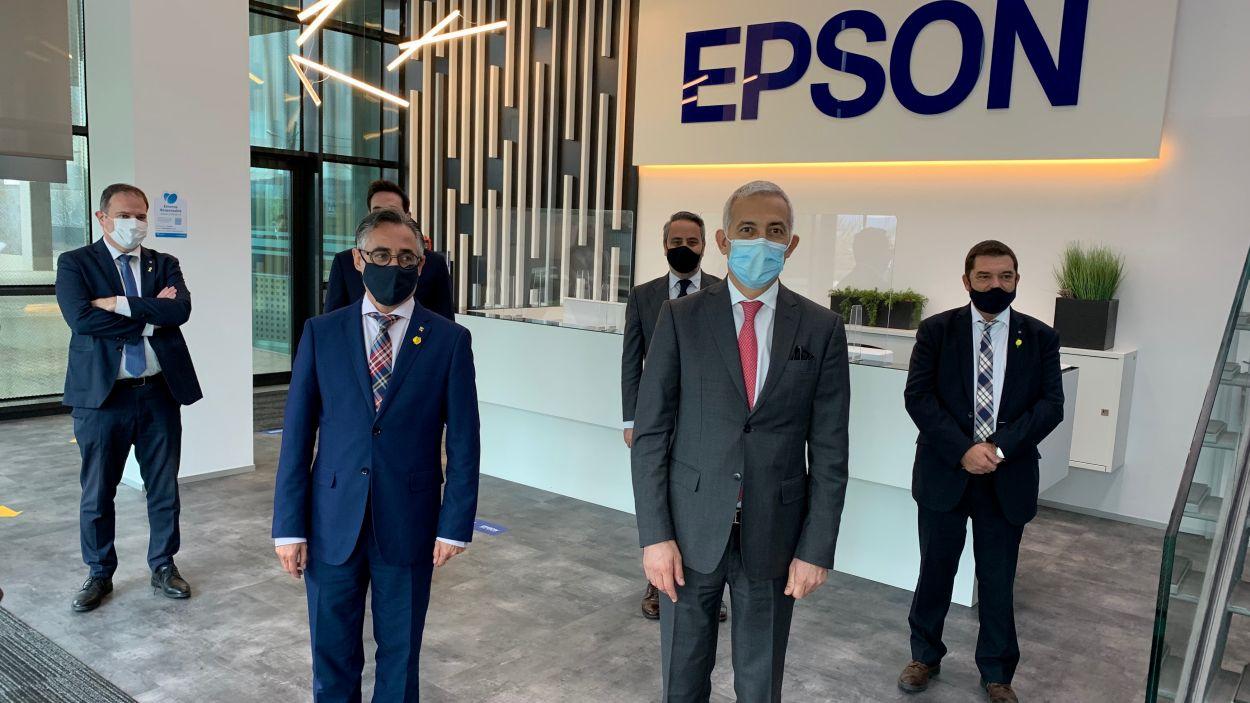 El conseller Ramon Tremosa ha visitat Epson/ Foto: Cugat Mèdia