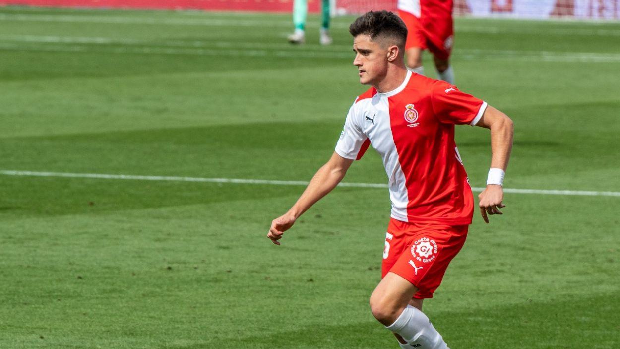 Pau Víctor durant un matx amb el Girona / Font: Girona FC