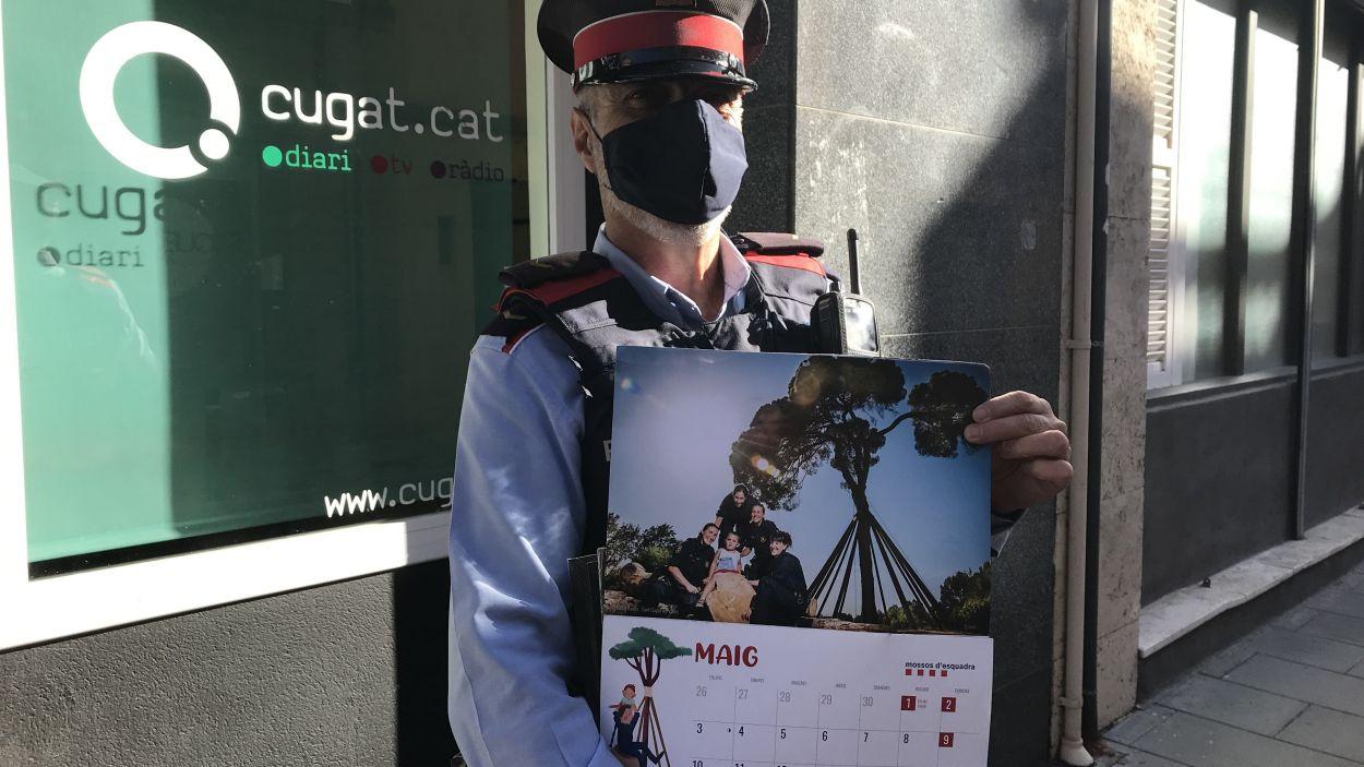 El Pi d'en Xandri, protagonista del calendari solidari del 2021 dels Mossos