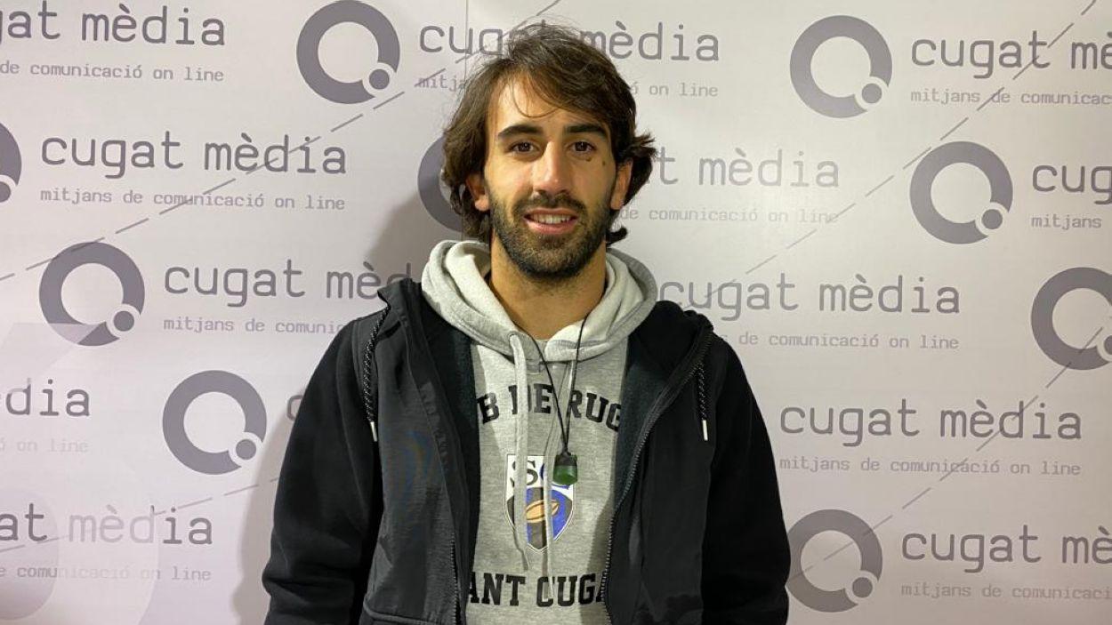 El jugador del Rugby Sant Cugat Pol Pla / Font: Cugat Mèdia