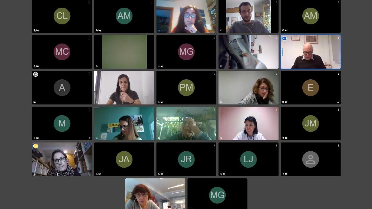 La sessió ha hagut de fer-se telemàticament / Foto: Cugat Mèdia
