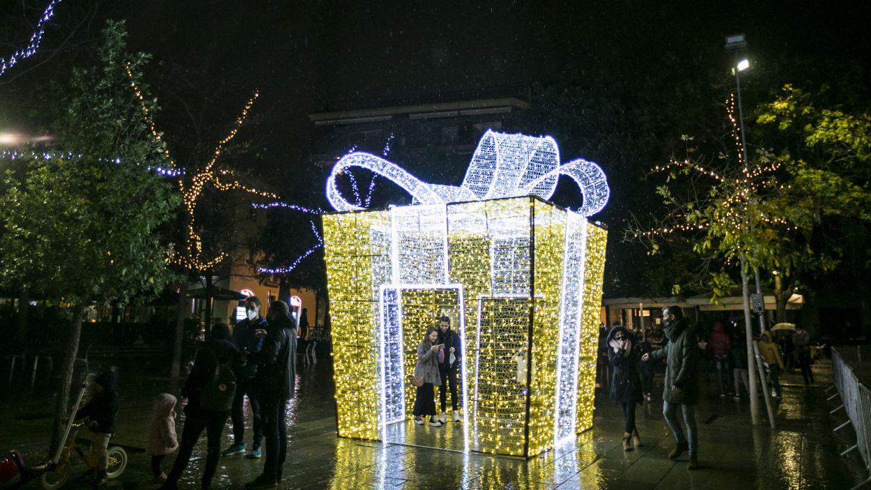 Sant Cugat es prepara per celebrar el Nadal / Foto: Lali Puig - Ajuntament