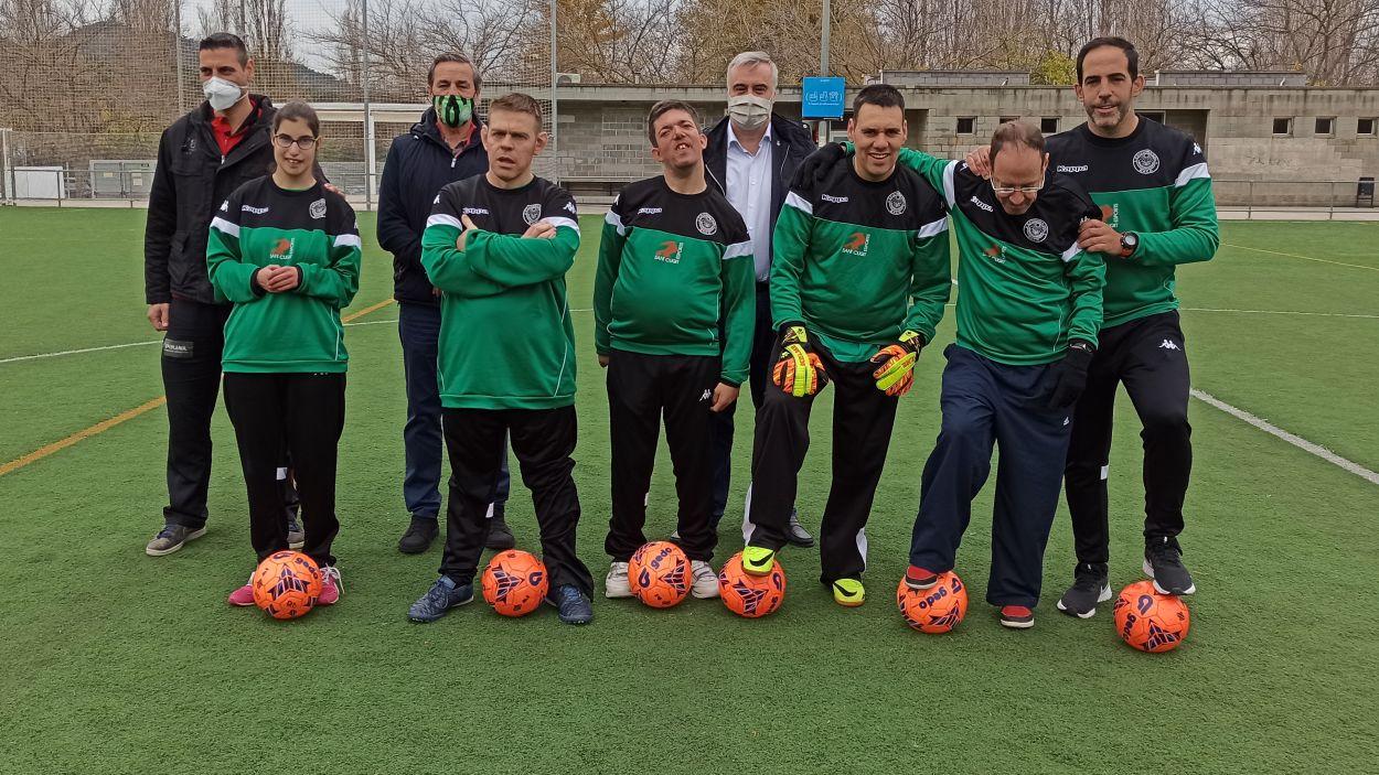 Presentació de l'equip de persones amb diversitat funcional  del CFU Mira-sol Baco/ Foto:Víctor Córdoba