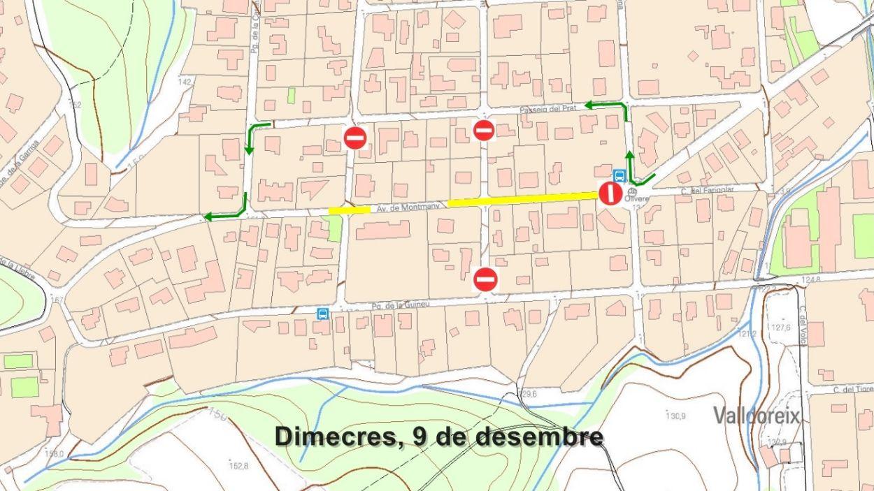 El tram afectat anirà des de la plaça de les Oliveres fins al passeig Tossal / Foto: EMD de Valldoreix