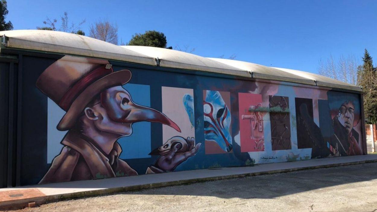 Imatge d'un graffiti a Valldoreix / Foto: Twitter EMD Valldoreix