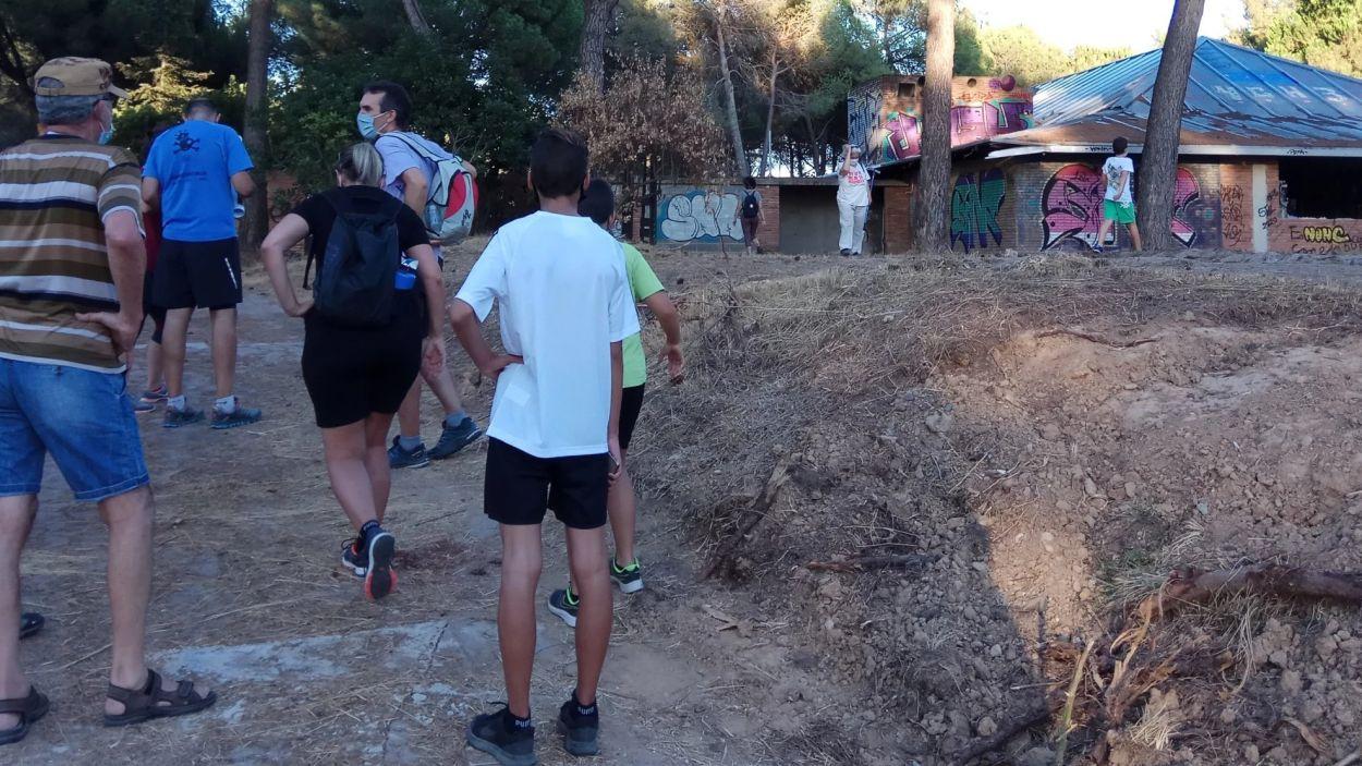 Imatge d'una excursió similar a la de diumenge feta a l'estiu / Foto: Reconvertim el Camp de Golf