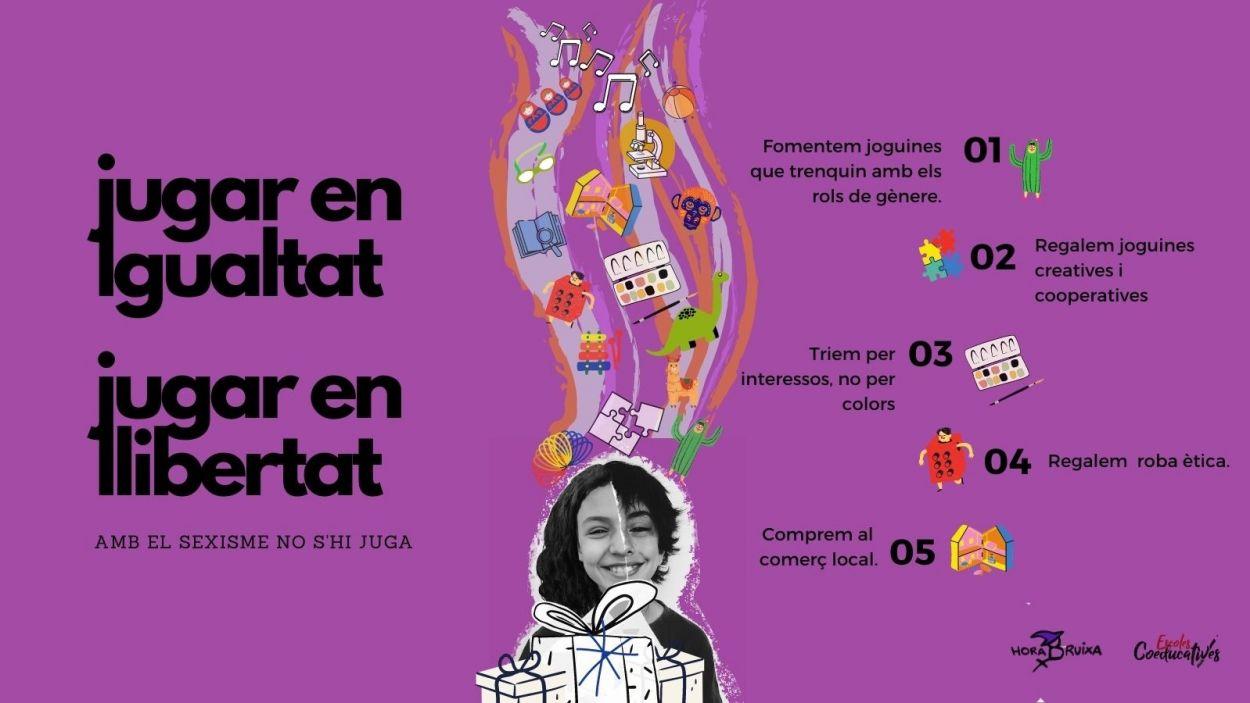 Cartell de la iniciativa / Foto: Hora Bruixa - Escoles Coeducatives