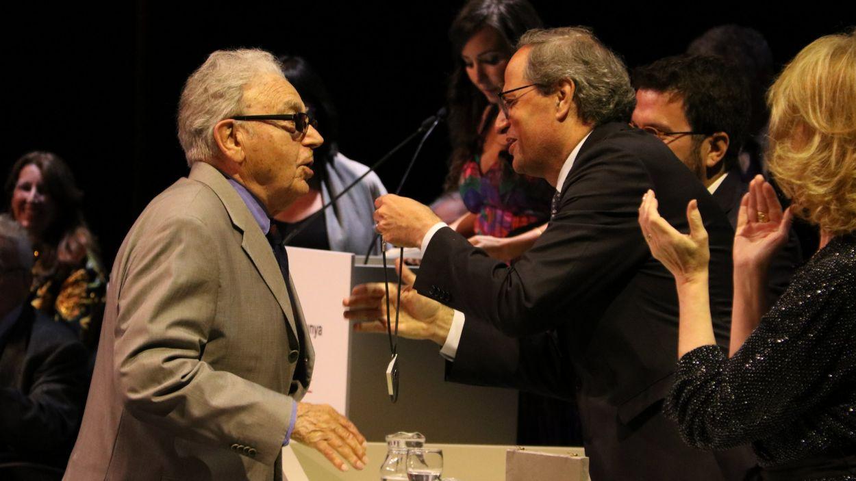 Josep Pla-Narbona, en el moment de rebre la Creu de Sant Jordi el 2019 / Foto: ACN